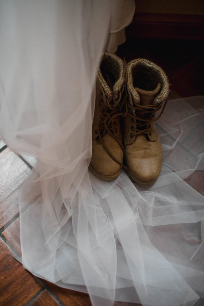 Wedding details photographed by an elopement photographer.