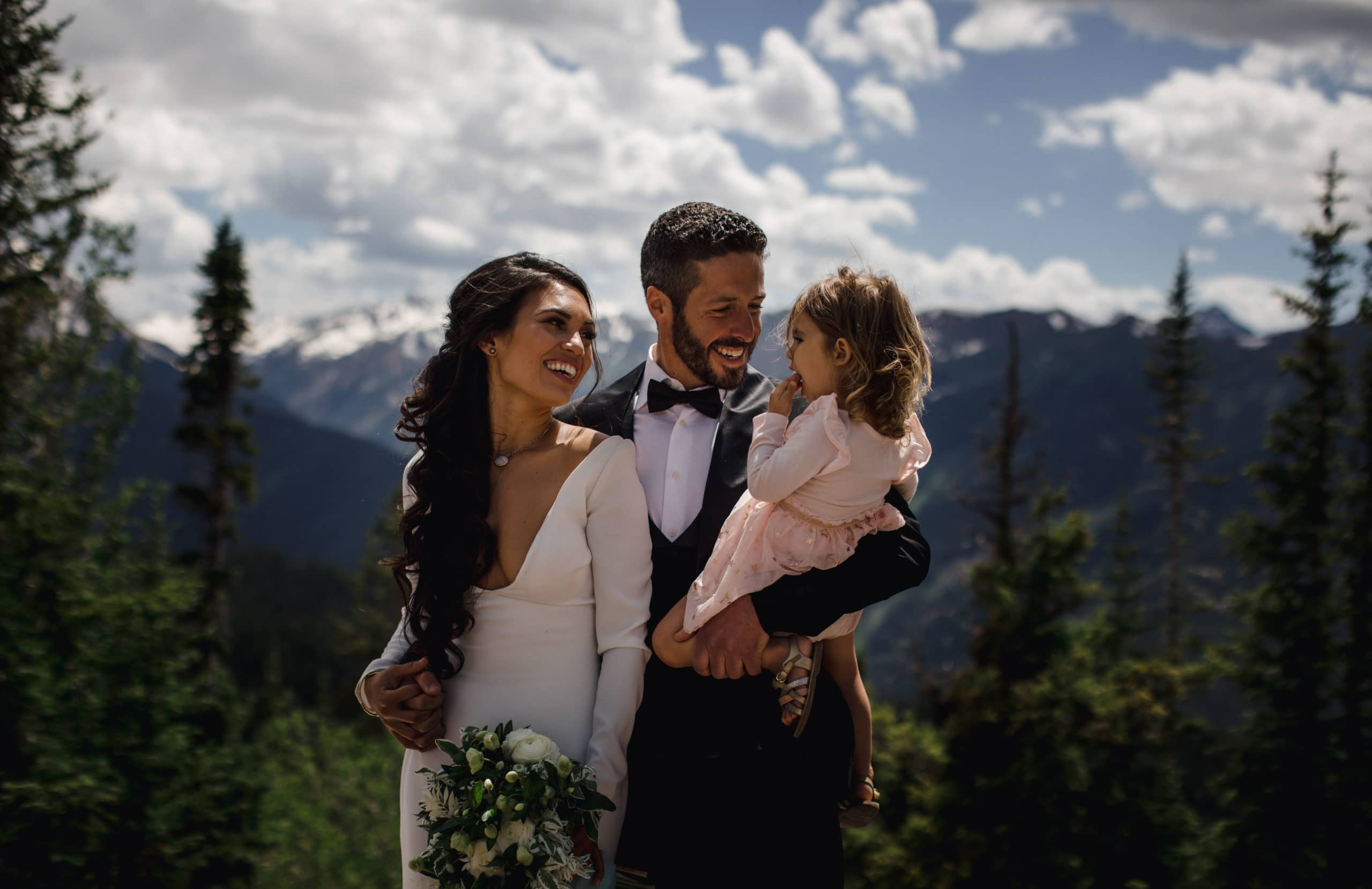 Eloping with children can really bring the whole family together to celebrate a union of two parents.