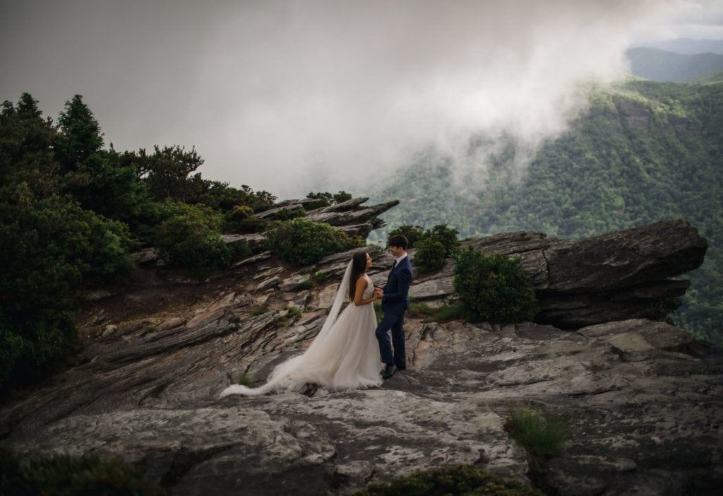 A bride and groom searching their destination wedding locations.