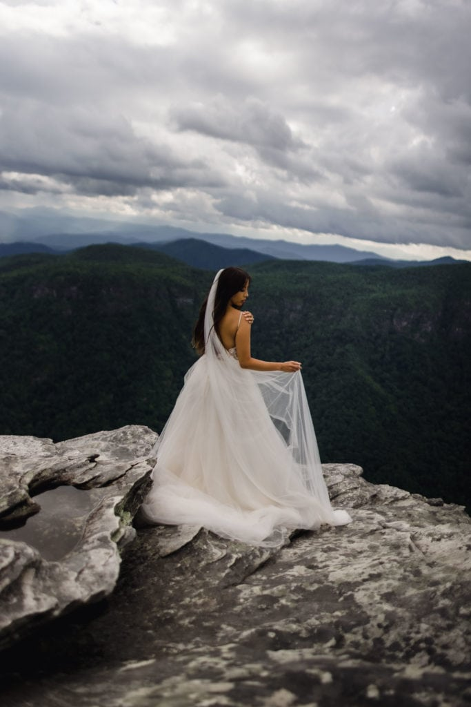 Gabby decided her and Demetri should have an Asheville elopement photographer on their wedding day.