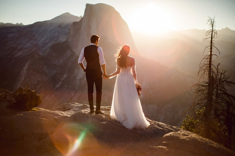A Yosemite Wedding taking place at Glacier Point.
