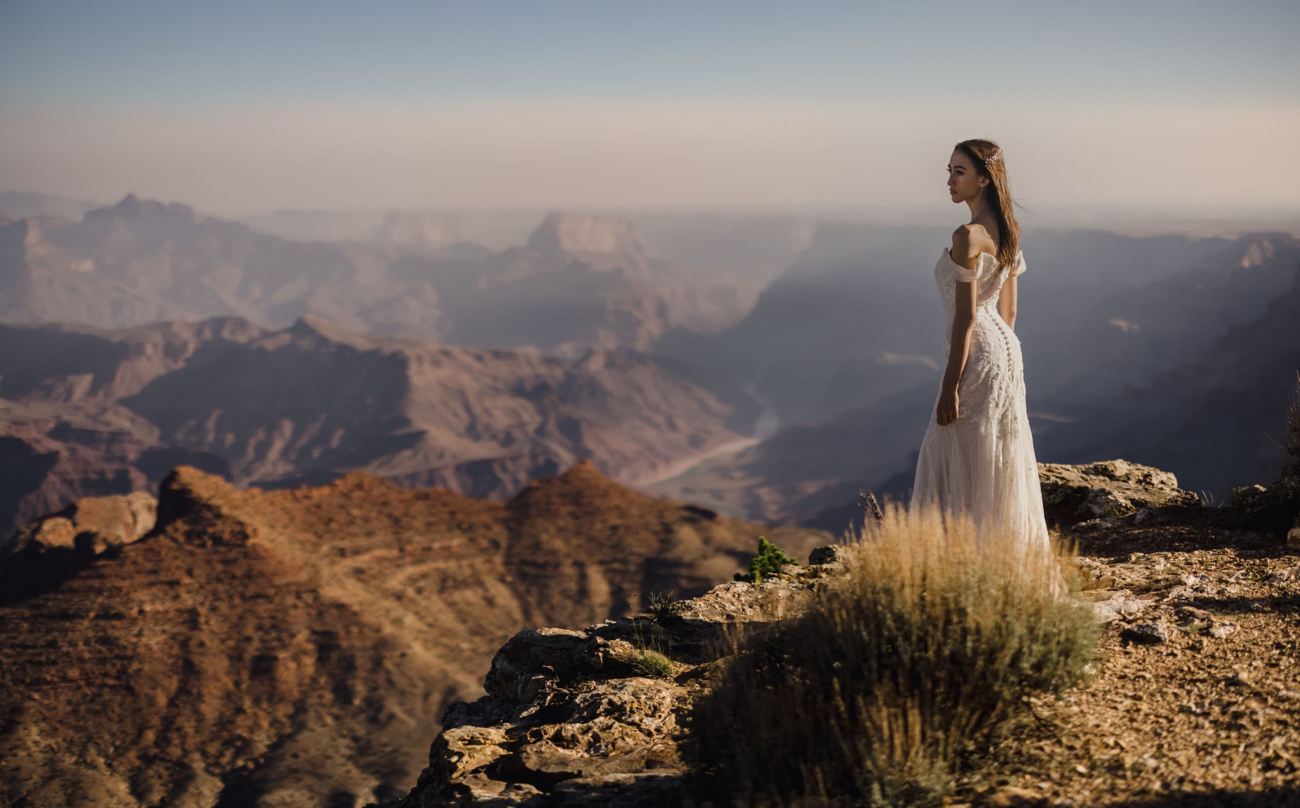 A bride that had a Grand Canyon Elopement