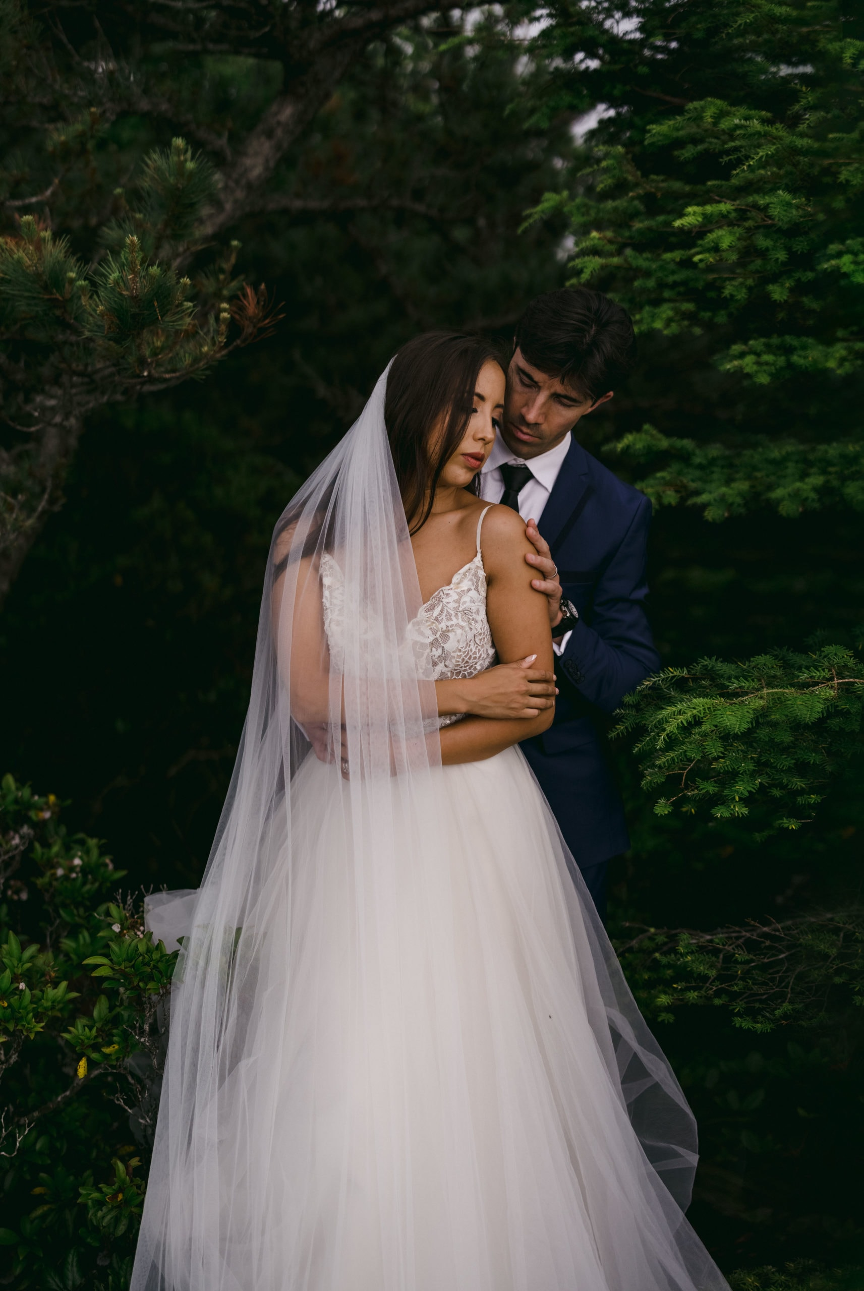 An Asheville elopement in the mountains created by a California elopement photographer.